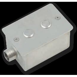 Nișă INOX - PT. 2 butoane...
